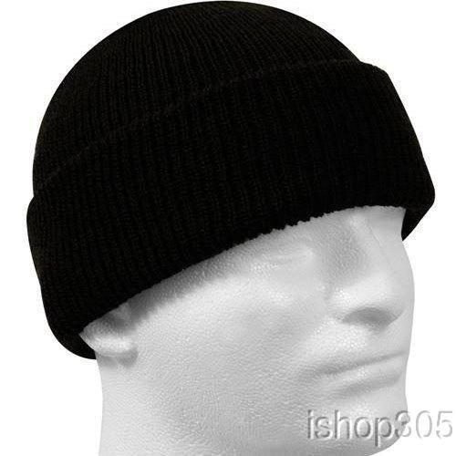 Rothco Genuine U.S.N Wool Watch Cap, Black