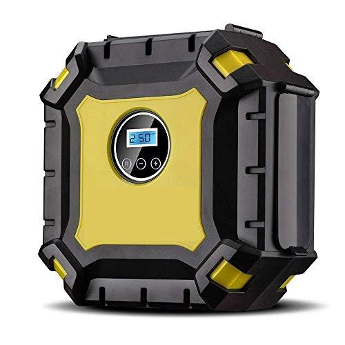 Portable Air Compressor Pump, Auto Digital Tire Inflator with Gauge, 12V 100PSI Auto Air Compressor Preset Pressure Shut Off with LED Light for Car, Truck, Bicycle, Basketballs (Digital Display)