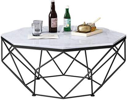 Nieuwe Manierstijl Van Ronde banktafels, moderne salontafels voor kleine ruimtes, marmeren top woonkamer tafel, metalen frame theetafel Ø77X45CM C  UoAxwZM