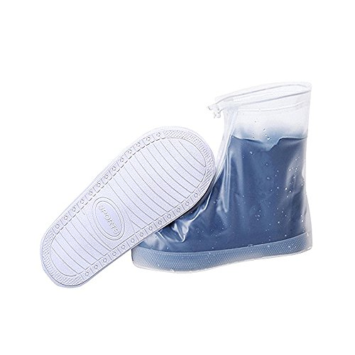 Scarpe impermeabili copre riutilizzabile pioggia neve copriscarpe addensare suola antiscivolo resistente all' usura over scarpe per ciclismo pesca campeggio giardino (bianco)