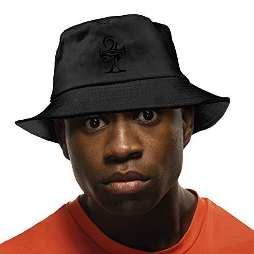YJMHstore Horus Eye with Ankh Tribal Tattoo Unisex Fisherman Bucket Hat Outdoor Packable Sun Hat UV Protection Black