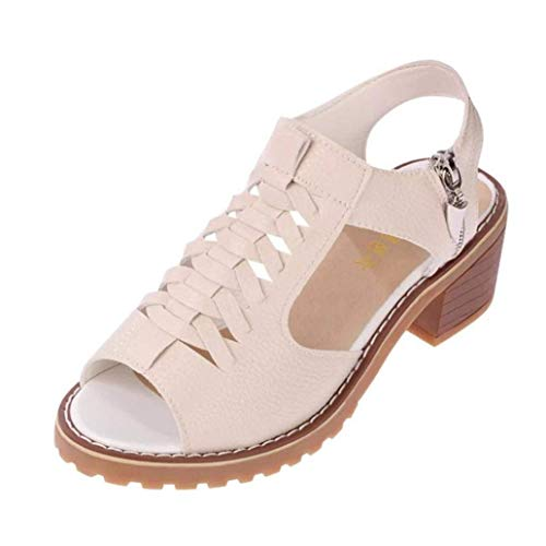 à taille bride à femme d'été chaussures talon la femmes uk de cheville Zhrui avec plates couleur blanc bas plateforme 6 et pour sandales R7xwgP
