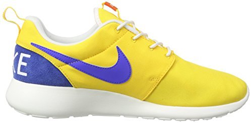 Nike Men's Roshe One Retro Running Shoes, Red Yellow (Varsity Maze/Racer Blue/Sail)