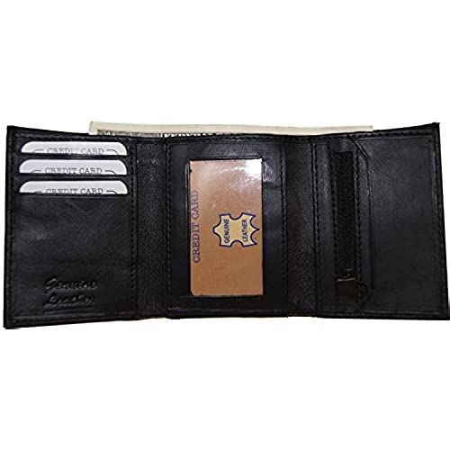 Trifold Men S Wallet With Coin Pocket Amazon Com