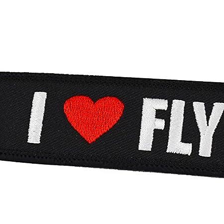 Amazon.com: tomcrazy Pilot Llavero, bordado de doble cara ...