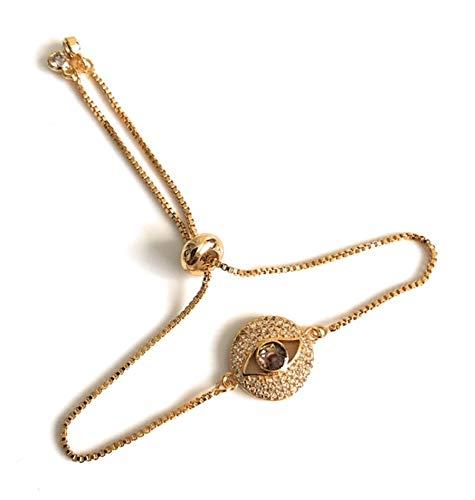 Good Vibes Jewelry for Women Evil Eye Cubic Zirconia Bracelet