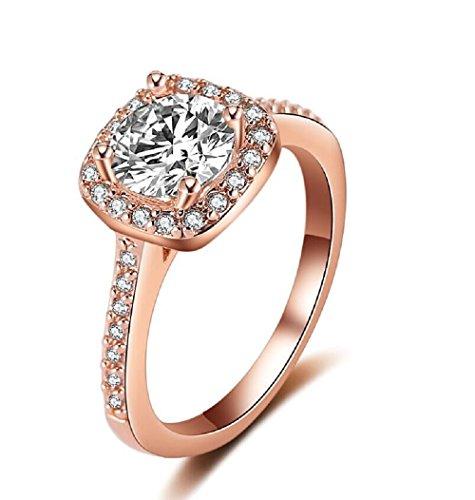 Eternal Love Women's 18K Rose Gold Plated CZ Crystal ...