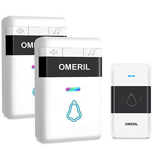 Door Bell, OMERIL Loud Wireless Doorbell Plug In...