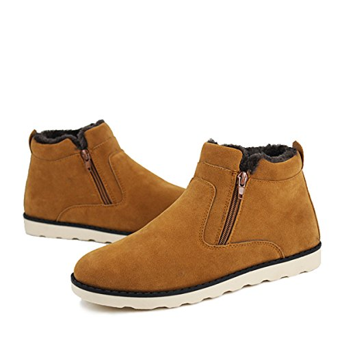 Camfosy Winter Snow Boots Casual Fur Lined Warm Cotton Shoes