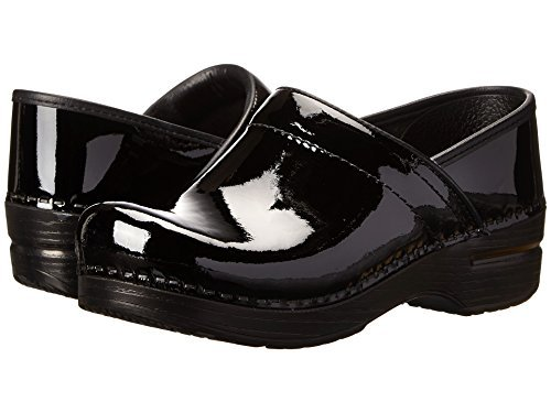 Professional Stapled Clog By Dansko Unisex Nursing Shoe Black Patent by Dansko
