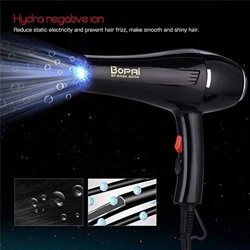 5000W Large Power Professional Hair Dryer Quickly Blow Dryer Blue Light Hydra Negative Ions Hairdryer Styling Tool 220-240V P42  oxmYl