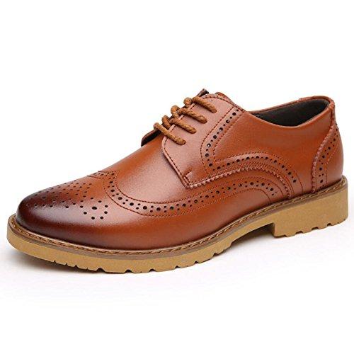CAI Herren Lederschuhe Fruumlhling/Herbst/Winter Komfort Buumlro Business Formelle Schuhe Mens Oxfords Tägliche beiläufige Lederschuhe (Farbe : Braun  Größe : 44) Braun