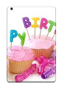 Ipad Cover Case - Happy Birthday Cupcakes Protective Case Compatibel With Ipad Mini/mini 2