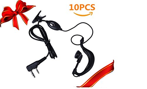 Romwell Newest 10 Pack Earpiece Headset Mic for Baofeng UV 5R/5RA/5RA+/5RB/5RC/5RD/5RE/5RE+ 666s 777s 888s Two-way ()