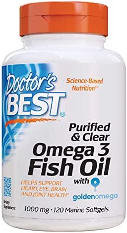 Doctor's Best Purified & Clear Omega 3 Fish Oil, Marine, 120Count