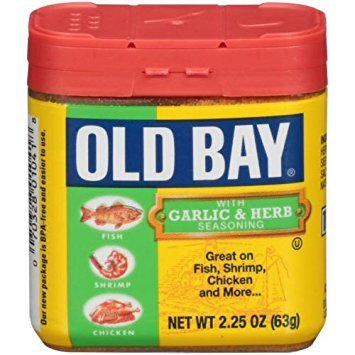 Old Bay Seasoning Garlic Herb, 2.25 oz (Bay Seafood Seasoning)