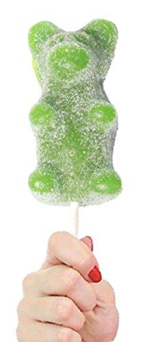 Sour Sticks - The Gummy Bear Guy   SOUR Giant Gummy Bear on a stick - 8.5oz (SOUR Green Apple)