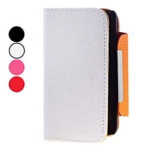 Lureme Fashionable Solid Color PU Leather Case With Stand for Samsung Galaxy S2 I9100 --- COLOR:Black