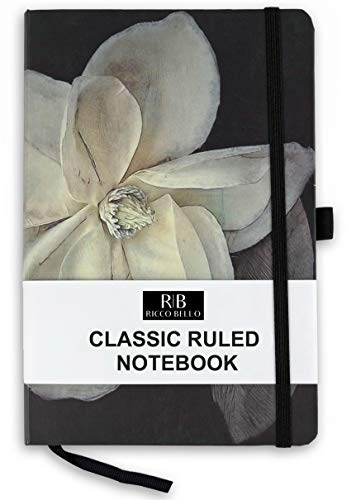 Magnolia Belle - RICCO BELLO A5 Classic College Ruled Banded Notebook, Pen Loop, 192 pages, 5.7 x 8.4 in. (Magnolia)