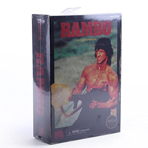 """NECA RAMBO First Blood Part II Action Figure 7"""" Classic Video Game Appearance MVFG294"""