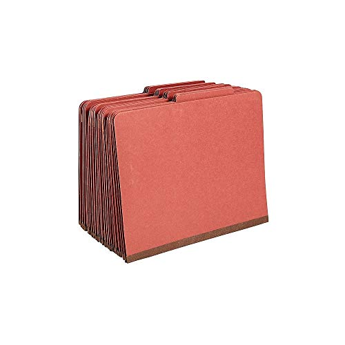 (Staples Colored Pressboard Classification Folders, Letter, 3 Partitions, Red, 20/Pack)