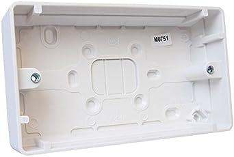2 caja de enchufe superficie - 30 mm de profundidad K2142WHI de MK ...