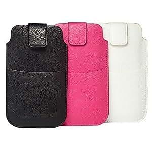 GX Teléfono Móvil Samsung - Bolsas - Diseño Especial - para Samsung Galaxy Note 3/Galaxy Note 4 ( Negro/Blanco/Rosa , Cuero PU ) , Black