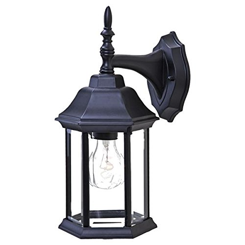 (Acclaim 5182BK Craftsman 2 Collection 1-Light Wall Mount Outdoor Light Fixture, Matte Black)