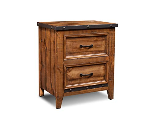 Sunset Trading Rustic City Nightstand, Natural Oak (Wood Reclaimed Furniture Me Near)