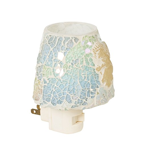 - Cherub Ivory Mini Lampshade 5 x 4 Glass Electric Wall Plug-In Mosaic Night Light