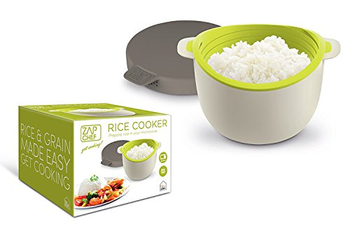 Zap Chef Microwave Rice Cooker , Vegetable Steamer, Pasta Maker, Serves 2 Or More in 17 Minutes