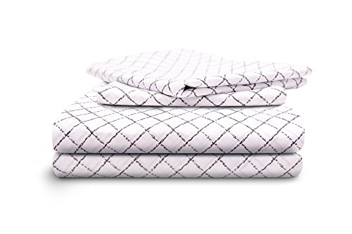 HONEYMOON HOME FASHIONS King Sheet Set 4 Piece with Deep Pocket, Steel Wire Gauze (Bedsheets For Sale)