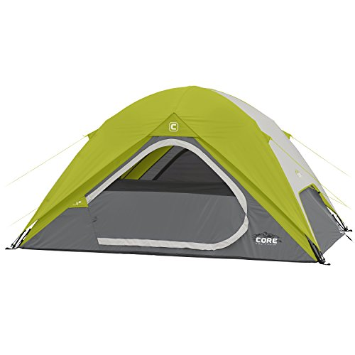 CORE Equipment 4 Person Instant Dome Tent – 9 x 7 , Green