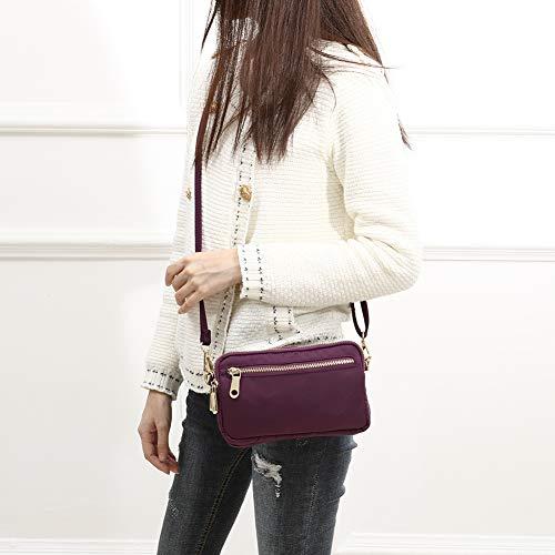 Nylon Purse Bags Shoulder Small TENXITER Wallet for Phone Bag Purple Women Bag Cell Crossbody Waterproof dUFnw