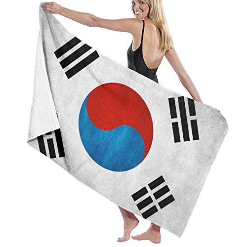 採用ホイール理想的ビーチバスタオル バスタオル 韓国旗 ビーチ用 海水浴 旅行用タオル 多用途 おしゃれ White
