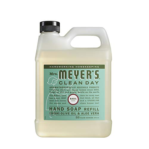 Hand Basil Soap (Mrs. Meyer's Liquid Hand Soap Refill, Basil, 33 Ounce)