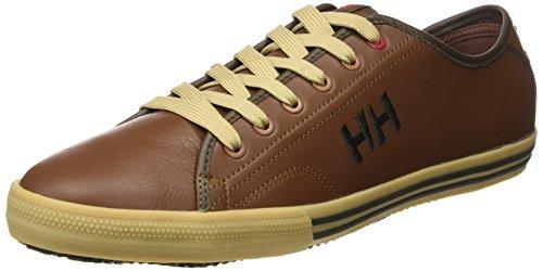 Helly Hansen Fjord Leather - Zapatillas de deporte exterior para Hombre Marron (474 Cornstalk / Slate Black)