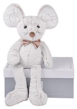 25 cm blanc blanche Histoire dours HO2438 Stofftier multicolore St/ück: 1 Gris grise
