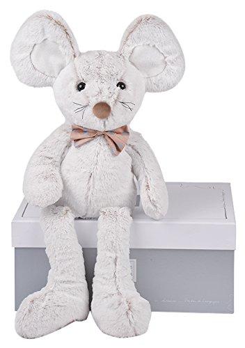 Histoire d ours peluche de ratón Gris, grise, blanche, blanc, multicolore Talla:25 cm: Amazon.es: Bebé