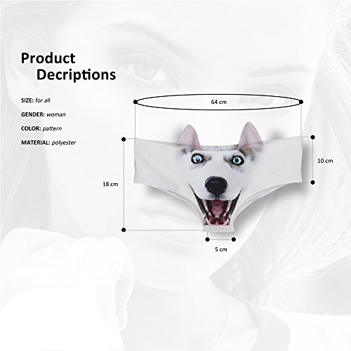 3 Pack Dog Face Print Lingerie Panty Doggy Thong Puppy Underwear For Women by YLing (Image #3)