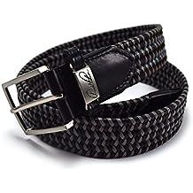Arnold Palmer Golf- 35mm Braided Veg. Split Leather Belt