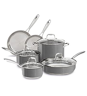 Stainless Steel 10-Piece Cookware Set KCSS10QG Liquid Graphite