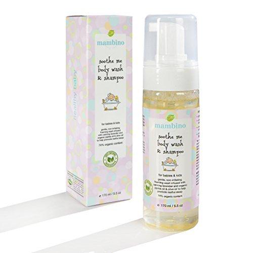 Mambino Organics Baby Kids Wash and Shampoo, Soothe Me, 5.5 Fluid Ounce by Mambino Organics