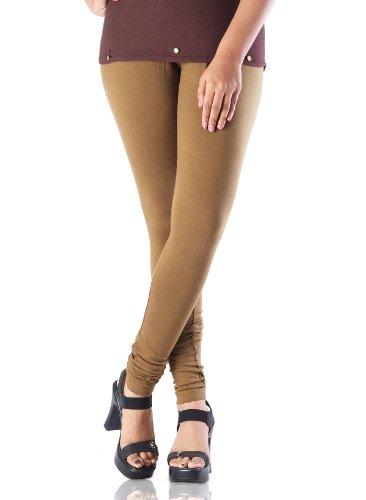 IndusDiva Women's Olive Green Stretchable Cotton Legging