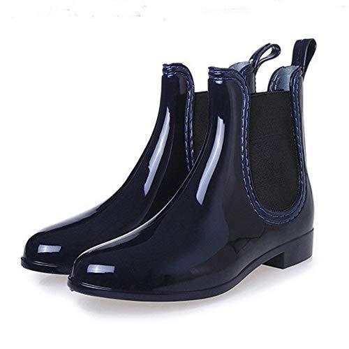 Herren Damen 35 Unisex Chelsea Regenstiefel blau Gr Kurzschaft 43 Pastaza D Blockabsatz Boots Mit Gummistiefel d5xPHdn