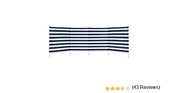 Aktive - Paravientos 4 paneles rayas azules, 3.2 x 2.5 x 1.24 m ...