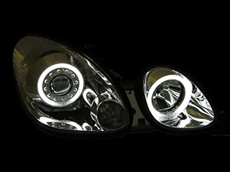 Anzo USA 121143 Lexus Projector with Halo//Chrome Clear with Amber Reflectors Headlight Assembly Sold in Pairs