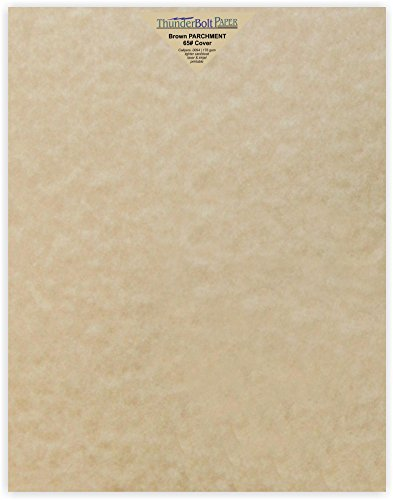 50 Sandy Brown Parchment 65lb Cover Weight Paper - 11 X 14 (11X14 Inches) Scrapbook|Picture-Frame Size - Printable Cardstock Colored Sheets Old Parchment Semblance