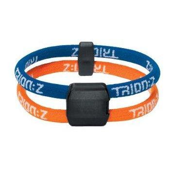 Trion:Z Dual Loop Magnetic Wristband/Bracelet (Blue/Orange) Large, Outdoor Stuffs