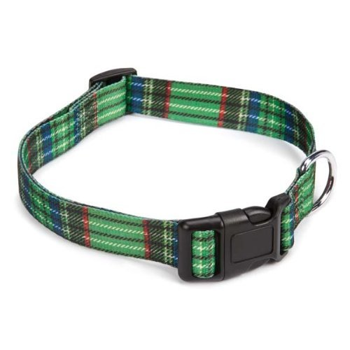 East Side Collection Scotty Plaid Collar, 14 by 20-Inch, Green
